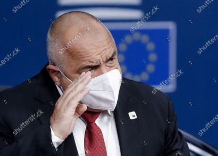 Bulgaria's Prime Minister Boyko Borissov arrives at the second day of a EU summit, in Brussels, Belgium, 16 October 2020. EU countries leaders are meeting in person for a two-day summit expected to focus mainly on EU-UK negotiations following Brexit, climate ambition and EU Budget.