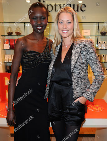 Heidi Bishop and Alek Wek