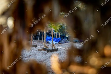 FBI agents raided this secluded camp on 7 October, 2020 in Luther, Michigan used by militia members for planning, explosives detonation, and other weapons training in connection with a plot to kidnap Michigan Governor Gretchen Whitmer and Virginia Governor Ralph Northam.