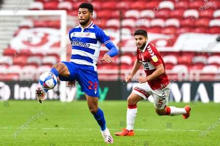 Josh Laurent of Reading and Sam Morsy of Middlesbrough