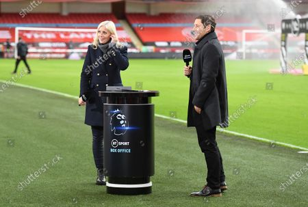 BT Sport Box Office presenters Lynsey Hipgrave and Michael Brown