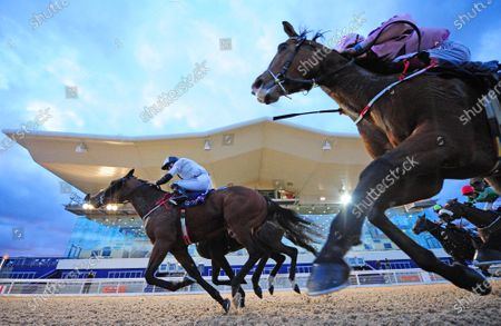 Stock Photo of DUNDALK 16-October-2020. JACKMEL and Billy Lee (far side,white) beats off ROYAL SCHOLAR (Ben Coen) and ISEEBREEZE (nearest) for owner Kevin John Smith and trainer Kevin Smith.
