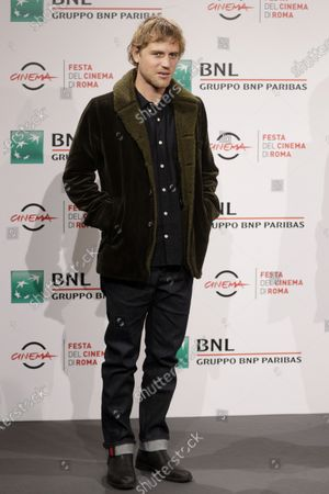 """Actor Johnny Flynn poses during a photo call for the movie """"Stardust"""", at the Rome Film Fest, in Rome"""