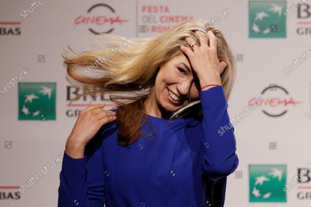 """Director Giedre Zickyte poses during a photo call for the movie """"Leciens"""" (The Jump), at the Rome Film Fest, in Rome"""