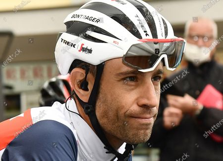 Italian rider Vincenzo Nibali of Trek-Segafredo team before the 13th stage of the 2020 Giro d'Italia cycling race over 192km from Cervia to Monselice, Italy, 16 October 2020.