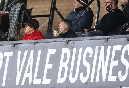 Wales manager Ryan Giggs sits in the stands