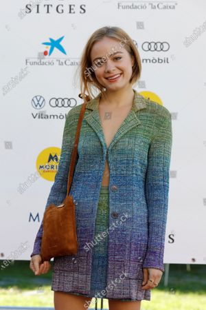 Stock Image of South African actress Athena Strates poses during the presentation of the film 'Cosmetica del enemigo' (lit: Cosmetics of the Enemy), a version of the novel by Amelie Nothomb Cosmetique de l'ennemi, at the 53rd Sitges International Fantastic Film Festival of Catalonia, in Sitges, Spain, 16 October 2020. The festival runs from 08 October to 18 October 2020.