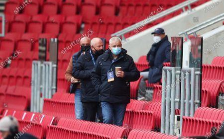 British & Irish Lions Coach Warren Gatland arrives with his coffee