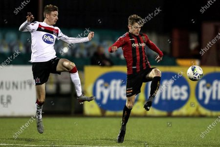 Stock Picture of Dundalk vs Bohemians. Dundalk's Daniel Kelly and Paddy Kirk of the Bohemians