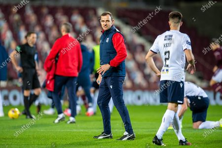 Dundee first team coach Dave Mackay during the warm up before the SPFL Championship match between Heart of Midlothian and Dundee at Tynecastle Park, Edinburgh