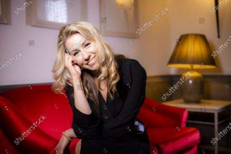 """Stock Image of Director Giedre Zickyte poses for portraits for the movie """"Leciens"""" (The Jump), at the Rome Film Fest, in Rome"""