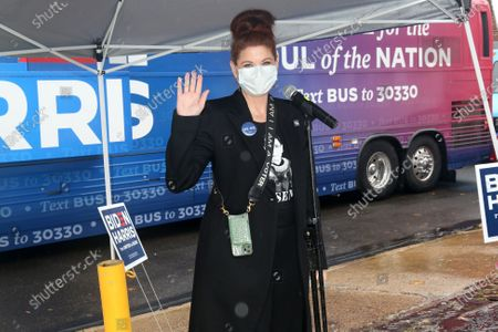 Award-winning actress Debra Messing pictured joining Ballots for Biden event in Montgomery County