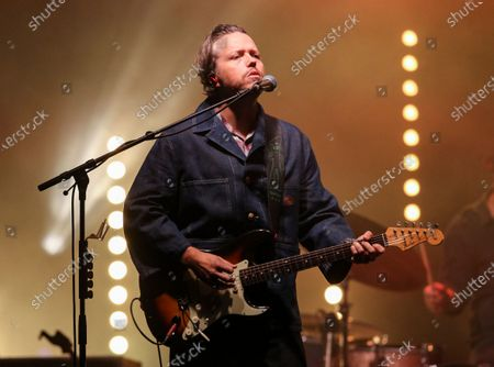 Jason Isbell with Jason Isbell and The 400 Unit performs during the Live From the Drive-In concert series at the Ameris Bank Amphitheatre, in Atlanta