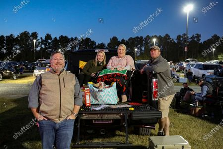 Stock Image of Social distance crowd at the Jason Isbell and The 400 Unit concert during the Live From the Drive-In concert series at the Ameris Bank Amphitheatre, in Atlanta