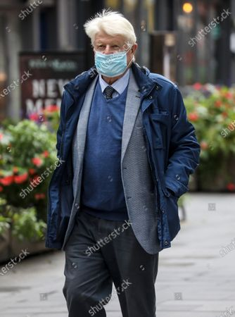 Stock Image of Stanley Johnson, the father of British Prime Minister Boris Johnson wearing a face mask is spotted out and about in London.