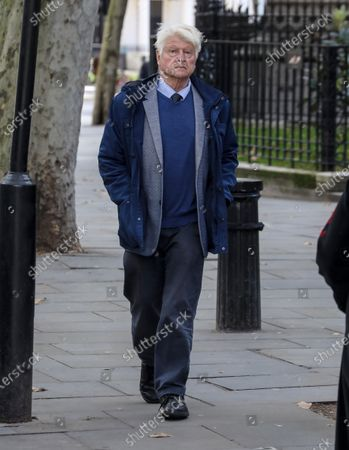 Stanley Johnson, the father of British Prime Minister Boris Johnson is spotted out and about in London.