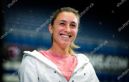 Petra Martic of Croatia during an interview at the 2020 J&T Banka Ostrava Open WTA Premier tennis tournament