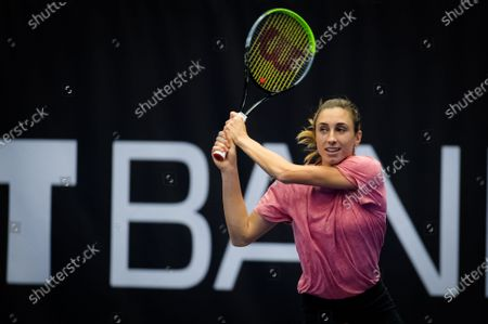 Stock Picture of Petra Martic of Croatia during practice at the 2020 J&T Banka Ostrava Open WTA Premier tennis tournament