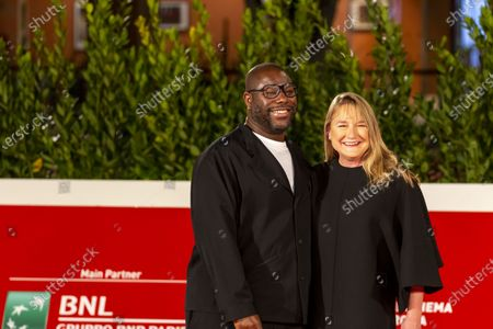 Director Steve McQueen with his wife arrives with his wife Bianca Stigter at the Rome International Film Festival