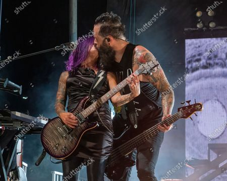 Editorial photo of Skillet in concert, Cedar Park, Texas, USA - 10 Oct 2020