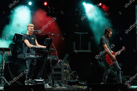 Stock Picture of Colton Dixon performs at the H-E-B Center