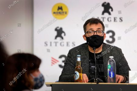Sitges International Film Festival's Director, Angel Sala, speaks during a press conference to announce of the winners of the 53rd edition of the International Fantastic Film Festival, in Sitges, near Barcelona, Spain, 17 October 2020. The festival runs until the upcoming 18 October.