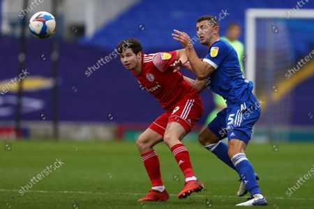 James Wilson of Ipswich Town battles with Ryan Cassidy of Accrington Stanley - Ipswich Town v Accrington Stanley, Sky Bet League One, Portman Road, Ipswich, UK - 17th October 2020