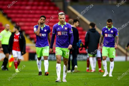 Andreas Weimann of Bristol City cuts a dejected figure