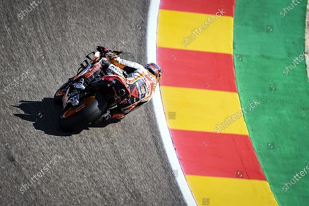 MOTORLAND ARAGON, SPAIN - OCTOBER 16: Stefan Bradl, Repsol Honda Team during the Aragon GP at Motorland Aragon on October 16, 2020 in Motorland Aragon, Spain. (Photo by Gold and Goose / LAT Images)