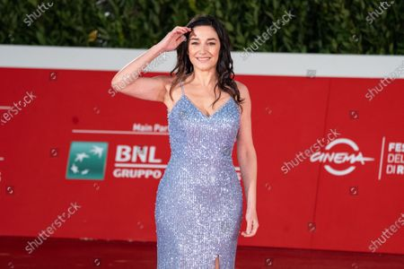 Stock Photo of Sara Ricci on red carpet of second day of Rome Film Festival