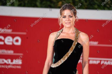 Elisabetta Pellini on red carpet of second day of Rome Film Festival