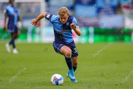 Wycombe Wanderers forward Alex Samuel (25) during the EFL Sky Bet Championship match between Wycombe Wanderers and Millwall at Adams Park, High Wycombe