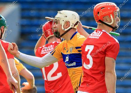 Clare vs Cork. Clare's Killian O'Connor celebrates scoring a goal