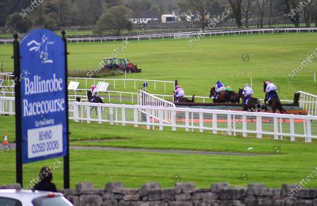Ballinrobe Action from he P&D Lydon Rated Novice Steeplechase won by RUEBEN JAMES & Ryan Treacy at a behind closed doors meeting at Ballinrobe Racecourse.