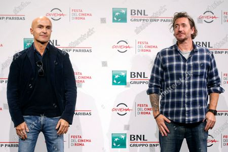 Italian filmaker Alex Infascelli (R) and Italian producer Lorenzo Mieli pose during the photocall of the movie 'Mi chiamo Francesco Totti' at the 15th annual Rome International Film Festival, in Rome, Italy, 17 October 2020. The film festival runs from 15 to 25 October.