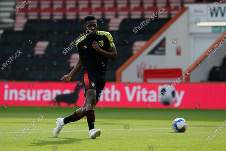 Jefferson Lerma (8) of AFC Bournemouth warming up ahead of the EFL Sky Bet Championship match between Bournemouth and Queens Park Rangers at the Vitality Stadium, Bournemouth