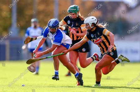 Stock Picture of Waterford vs Kilkenny. Kilkenny's Meighan Farrell and Colette Dormer in action against Waterford's Annie Fitzgerald