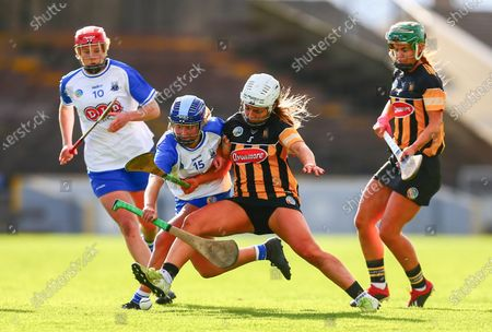 Waterford vs Kilkenny. Kilkenny's Meighan Farrell tackles Waterford's Annie Fitzgerald