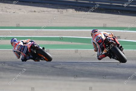 MOTORLAND ARAGON, SPAIN - OCTOBER 17: Stefan Bradl, Repsol Honda Team during the Aragon GP at Motorland Aragon on October 17, 2020 in Motorland Aragon, Spain. (Photo by Gold and Goose / LAT Images)