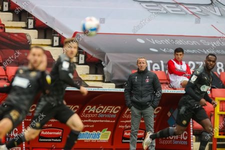 Charlton Athletic manager Lee Bowyer watches the game during the EFL Sky Bet League 1 match between Charlton Athletic and Wigan Athletic at The Valley, London