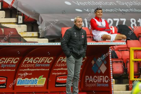 Charlton Athletic manager Lee Bowyer during the EFL Sky Bet League 1 match between Charlton Athletic and Wigan Athletic at The Valley, London