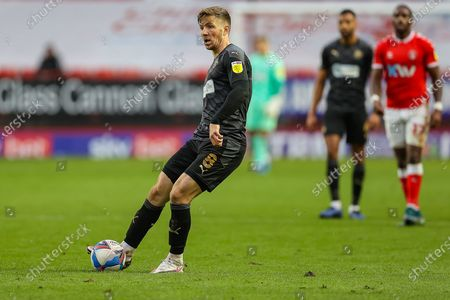 Stock Picture of Wigan Athletic midfielder Lee Evans (8) during the EFL Sky Bet League 1 match between Charlton Athletic and Wigan Athletic at The Valley, London