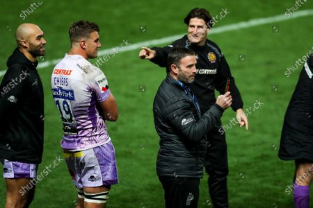 Mark Stevens after Exeter Chiefs win the game 31-27 win the Heineken Champions Cup