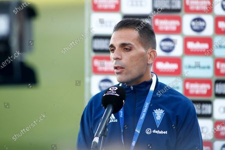 Stock Picture of Roberto Carlos Perera, Staff Tecnical of Cadiz, attends during the spanish league, La Liga Santander, football match played between Real Madrid and Cadiz CF at Alfredo Di Stegfano stadium on October 17, 2020 in Madrid, Spain.