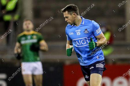 Dublin vs Meath. Dublin's Dean Rock celebrates scoring a goal