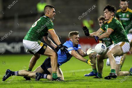 Dublin vs Meath. Dublin's Cian Murphy with Shane McEntee and Eoin Harkin of Meath
