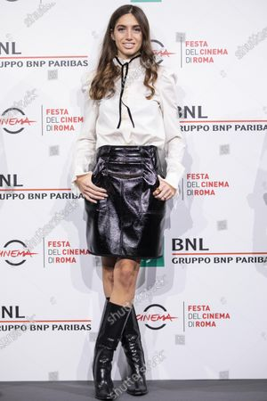 "Virginia Valsecchi attends the photocall of the movie ""Mi chiamo Francesco Totti"" during the 15th Rome Film Festival on October 17, 2020 in Rome, Italy"