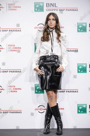 """Stock Picture of Virginia Valsecchi attends the photocall of the movie """"Mi chiamo Francesco Totti"""" during the 15th Rome Film Festival on October 17, 2020 in Rome, Italy"""