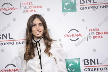 """Stock Image of Virginia Valsecchi attends the photocall of the movie """"Mi chiamo Francesco Totti"""" during the 15th Rome Film Festival on October 17, 2020 in Rome, Italy"""