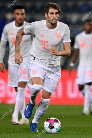 Bayern's Javi Martinez in action during the German Bundesliga match between Arminia Bielefeld and Bayern Muenchen at SchuecoArena in Bielefeld, Germany, 17 October 2020.
